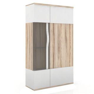 Шкаф с витриной 900 низкий ЛД 634.040, МАРТА гостиная, Алмаз (Любимый дом), Россия