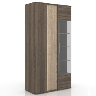 Шкаф-витрина ЛД 629.030, БРУНА гостиная, Алмаз (Любимый дом), Россия