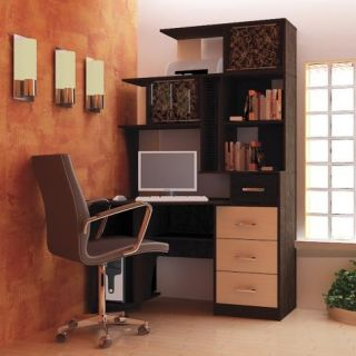 Компьютерный стол «Бэйсик Макси» левый, венге, Алмаз (Любимый дом), Россия