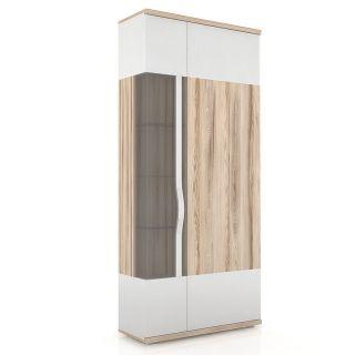 Шкаф с витриной 900 ЛД 634.030, МАРТА гостиная, Алмаз (Любимый дом), Россия