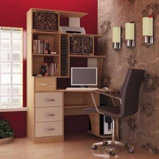 Компьютерный стол «Бэйсик Макси» правый, бук, Алмаз (Любимый дом), Россия