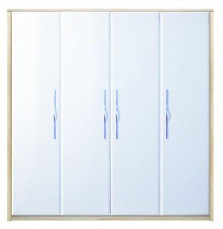 Шкаф для одежды B1-SZF4D, в спальню ОНИКС (ONIX), BRW ( БРВ ), РБ