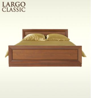 Кровать двухспальная PLOZ140, LARGO CLASSIK (Ларго Классик), BRW (БРВ), РБ
