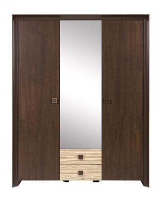Шкаф для одежды SZF 3d2s-21-16, СОРРЕНТО ( SORRENTO ), BRW ( БРВ ), РБ, ( 1610*630*2070 )