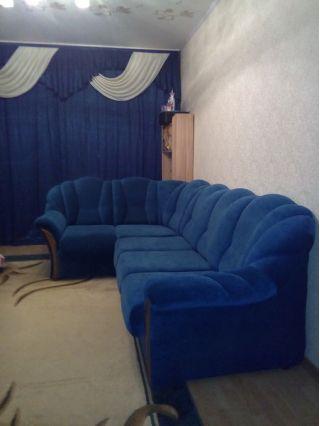 Продам синий угловой диван в Минске БУ