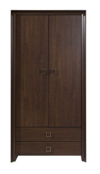 Шкаф для одежды SZF 2d2s-20-10, СОРРЕНТО ( SORRENTO ), BRW ( БРВ ), РБ, ( 1000*630*1980 )