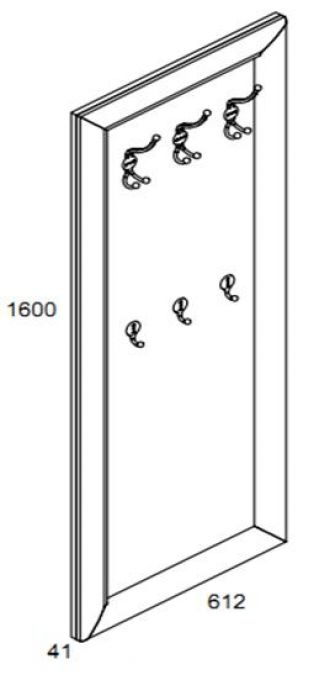 Вешалка WIE 60, LARGO CLASSIK (Ларго Классик), BRW (БРВ), РБ
