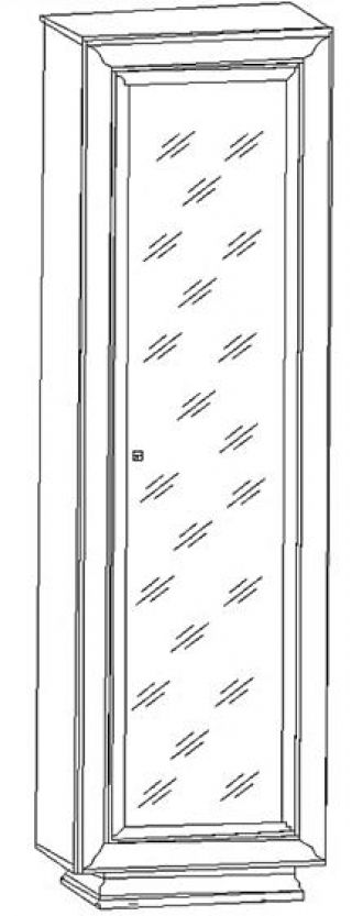 Шкаф SZF 1d/20/6, LARGO CLASSIK (Ларго Классик), BRW (БРВ), РБ