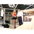Тупая блондинка в магазине мебели Столплит